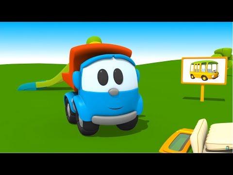 Грузовичок Лёва - машинки конструктор - Собираем автобус - Развивающий мультик для малышей