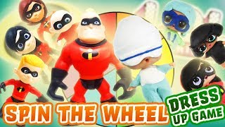 Incredibles 2 Movie Spin the Wheel Dress up Game w/ Play-Doh! Featuring Super BB, MC Swag, & Diva!