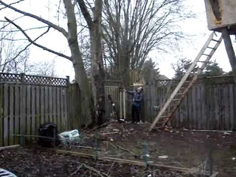 How to install a Ham Radio Antenna using a Potato Canon - Redneck Canadian Style! # 2