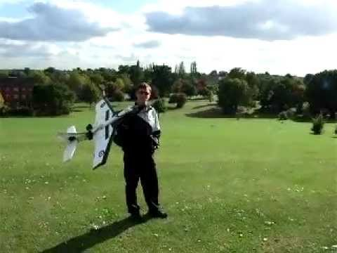 home made rc plane maiden flight