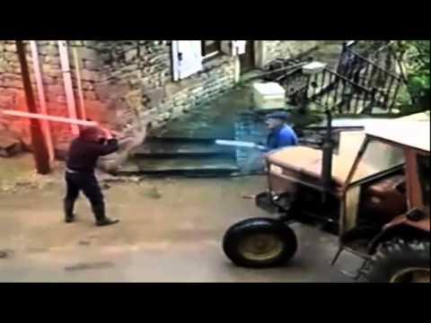 Бой трактористов на световых мечах