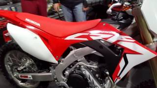 NEW HONDA CRF 450R 2017 FIRST START WITH SOUND