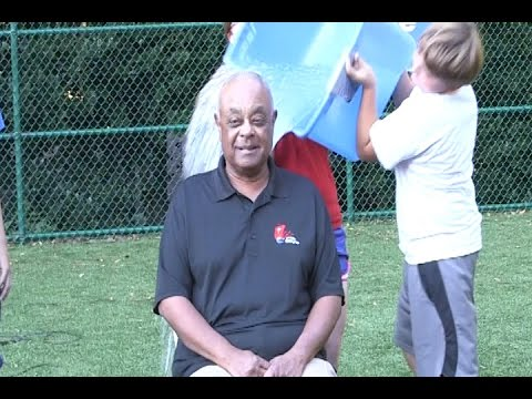 Archbishop Gregory's accepts the ice bucket challenge at OLA