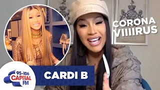 "Cardi B Recreates Viral ""CORONAVIRUS"" Meme 