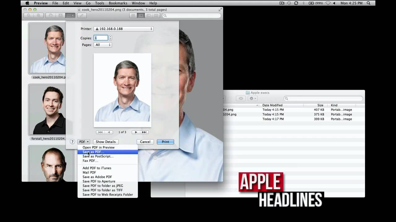 how to create a pdf file on apple mac