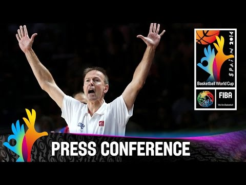 Lithuania v France - 3rd Place game - Post game press conference - 2014 FIBA Basketball World Cup