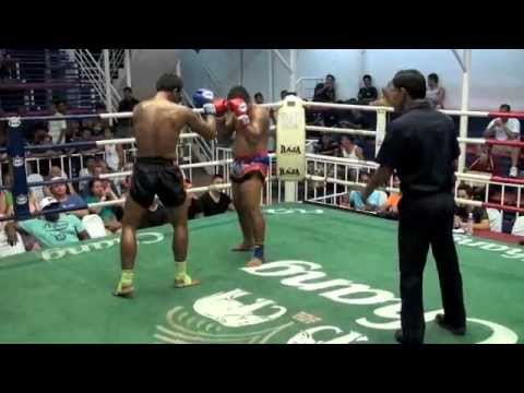 Seuadao (Tiger Muay Thai) vs Petsilla in a battle of power kicks at Bangla Thai Boxing Stadium Image 1