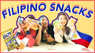 🇵🇭College Students Try FILIPINO SNACKS!! | Katie Tracy