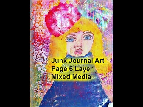 Junk Journal Art Page- 6 Layer Mixed Media