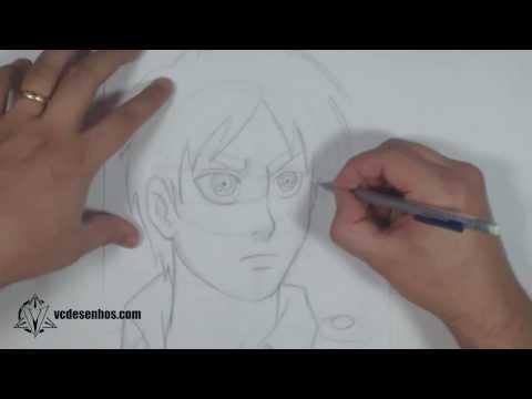 Como desenhar Eren Shingeki no Kyojin