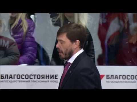 Lokomotiv head coach Alexei Kudashov was sent off for throwing the bottle