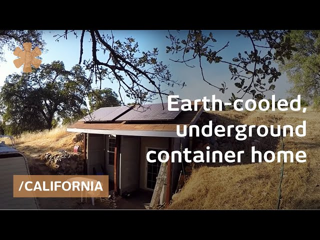 Earth-cooled, shipping container underground CA home for 30K