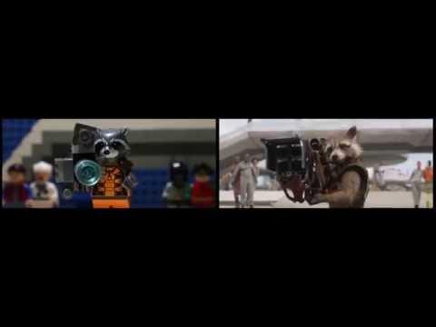 Guardiani della Galassia trailer ITA - Comparazione trailer Lego