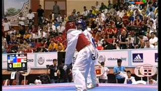 58kg Gabriel Mercedes (DOM) vs (GRE) Marios Tsourdiniz (world taekwondo Qualification 2011)