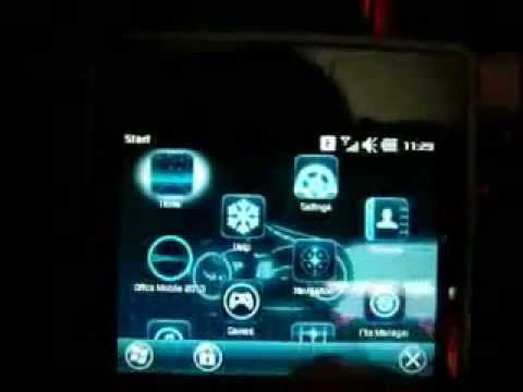 Sony Ericsson Aspen : TRON theme simple