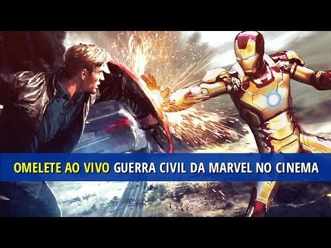 Guerra Civil explodirá na Marvel no cinema! AO VIVO