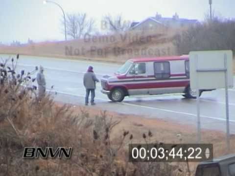 1/3/2003 Cars spinning out and crashing in ice storm video