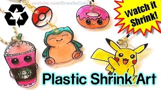 DIY How to Make Shrink Charms with Recycled Plastic step by step