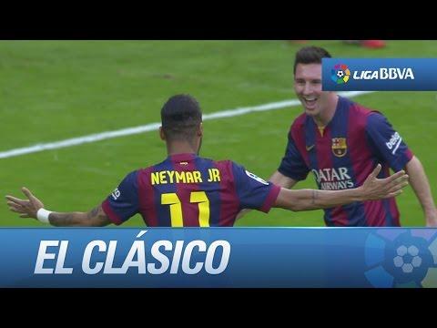 Golazo de Neymar (0-1) en el Real Madrid - FC Barcelona - HD