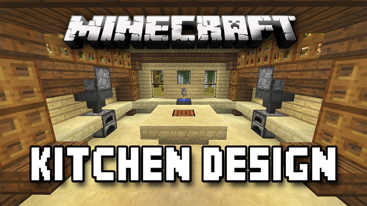 Minecraft tutorial how to build a house part 12 kitchen design youtube - Kitchen design tutorial ...