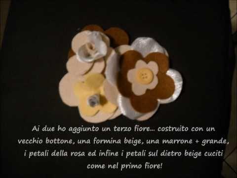 Spilla fiori pannolenci!!!