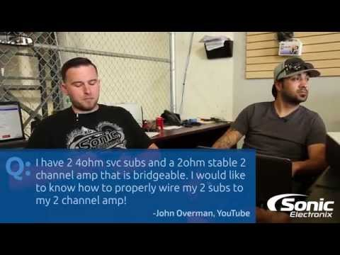 How do I Wire My Subwoofers to My 2-Channel Amplifier?   Car Audio Q & A