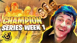 THIS SQUAD DOMINATES! FORTNITE CHAMPION SERIES! W/ FAZE FUNK, NATE HILL & REVERSE2K