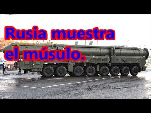 Mostrando el músculo. Rusia lanzó misil nuclear intercontinental de prueba.