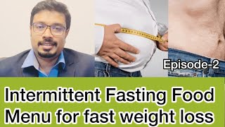 Intermittent fasting food menu | immunity boosting foods #intermittentfasting #weightloss #immunity