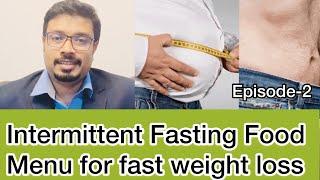 Intermittent fasting food menu | immunity boosting foods #intermittentfasting #weightloss #immunity