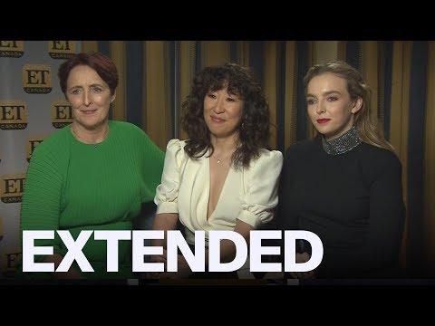 Sandra Oh Jodie Comer Fiona Shaw Talk 'Killing Eve' Season 2   EXTENDED