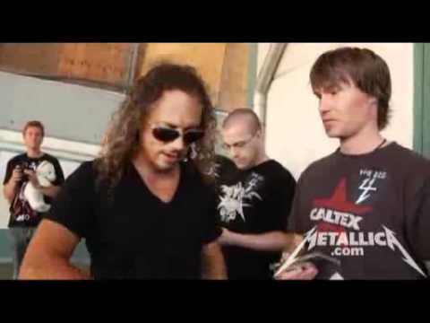 Why Kirk Hammett wraps tape around his hand Music Videos