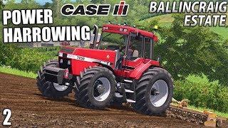 CASE POWER HARROWING | Ballincraig Estate - Episode 2