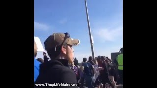 FIGHT at Trump Rally Between BLM and Trump Supporter
