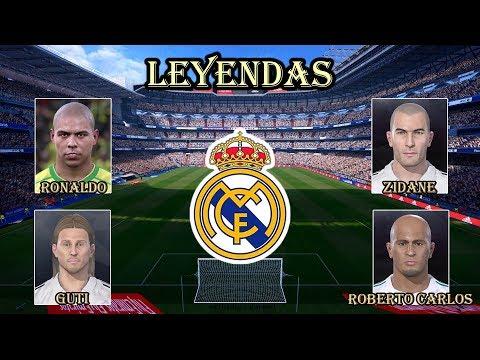 Real Madrid clásico - Todas sus leyendas | PES 2018 PS3 (BLUS y BLES)