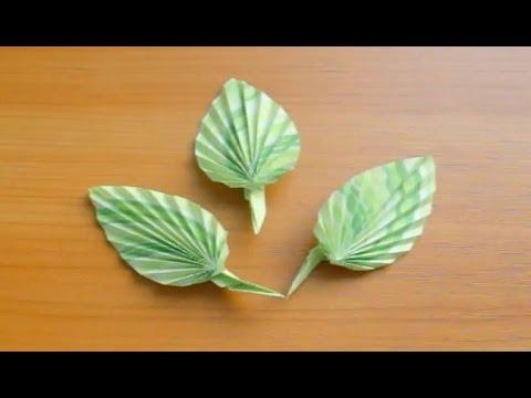 Листочки из бумаги своими руками фото