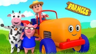 Tractor Song For Kids | Nursery Rhymes by Farmees
