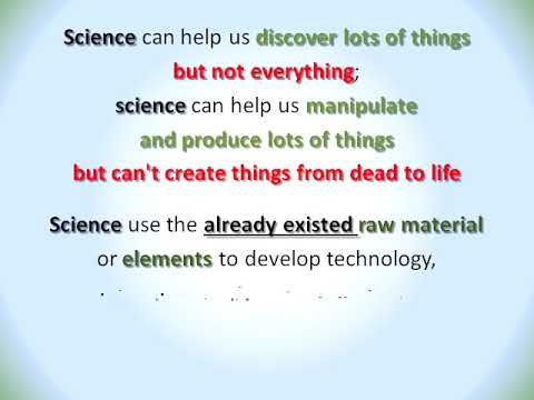 (BTTG 014) (Audio) Science just discover and manipulate things, but not create things
