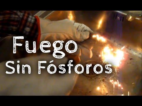 Cómo prender fuego sin fósforos