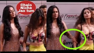Oops ! Shweta Tiwari pushing her daughter to leave on Red carpet of Gold Awards 2018