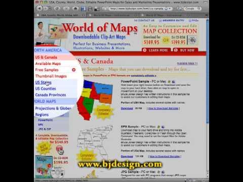 World of Maps Clip Art Web Site Tour