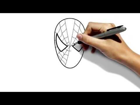 Видео как нарисовать лицо Человека-Паука