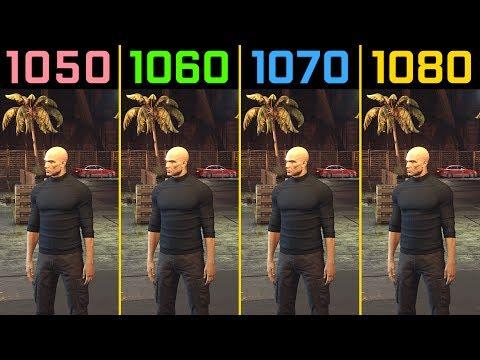 hitman gtx 1050 ti vs. gtx 1060 vs. gtx 1070 vs. gtx 1080
