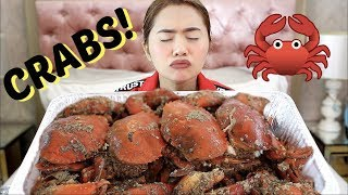 MUKBANG#5: Garlic CRAB & Garlic NOODLES | Anna Cay ♥