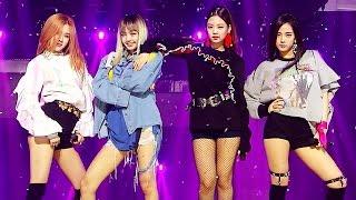 Exciting Blackpink 블랙핑크 Whistle 휘파람 A인기가요 Inkigayo 20160911