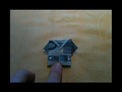 geldjacke falten geldschein zu hemd falten origami. Black Bedroom Furniture Sets. Home Design Ideas