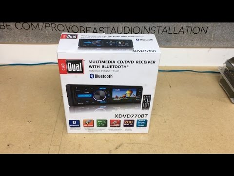 Dual Single Din Bluetooth DVD Radio Unboxing XDVD770BT