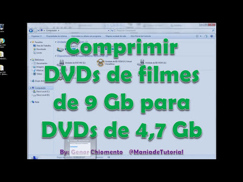 Comprimir DVDs de filmes de 9 Gb para DVDs de 4,7 Gb - @ManiadeTutorial
