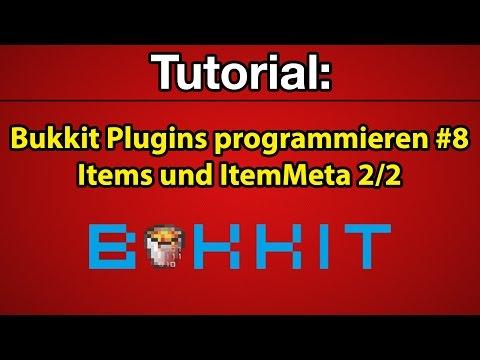 Tutorial: Bukkit Plugins programmieren #8 - Items und ItemMeta 2/2 [Deutsch] [Full-HD]