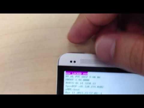 HTC One - Restablecimiento de fábrica con los botones de hardware